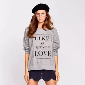 Wildfox Like Is The New Love Pullover Size XS